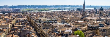 40670036 - aerial view of the city of bordeaux in france