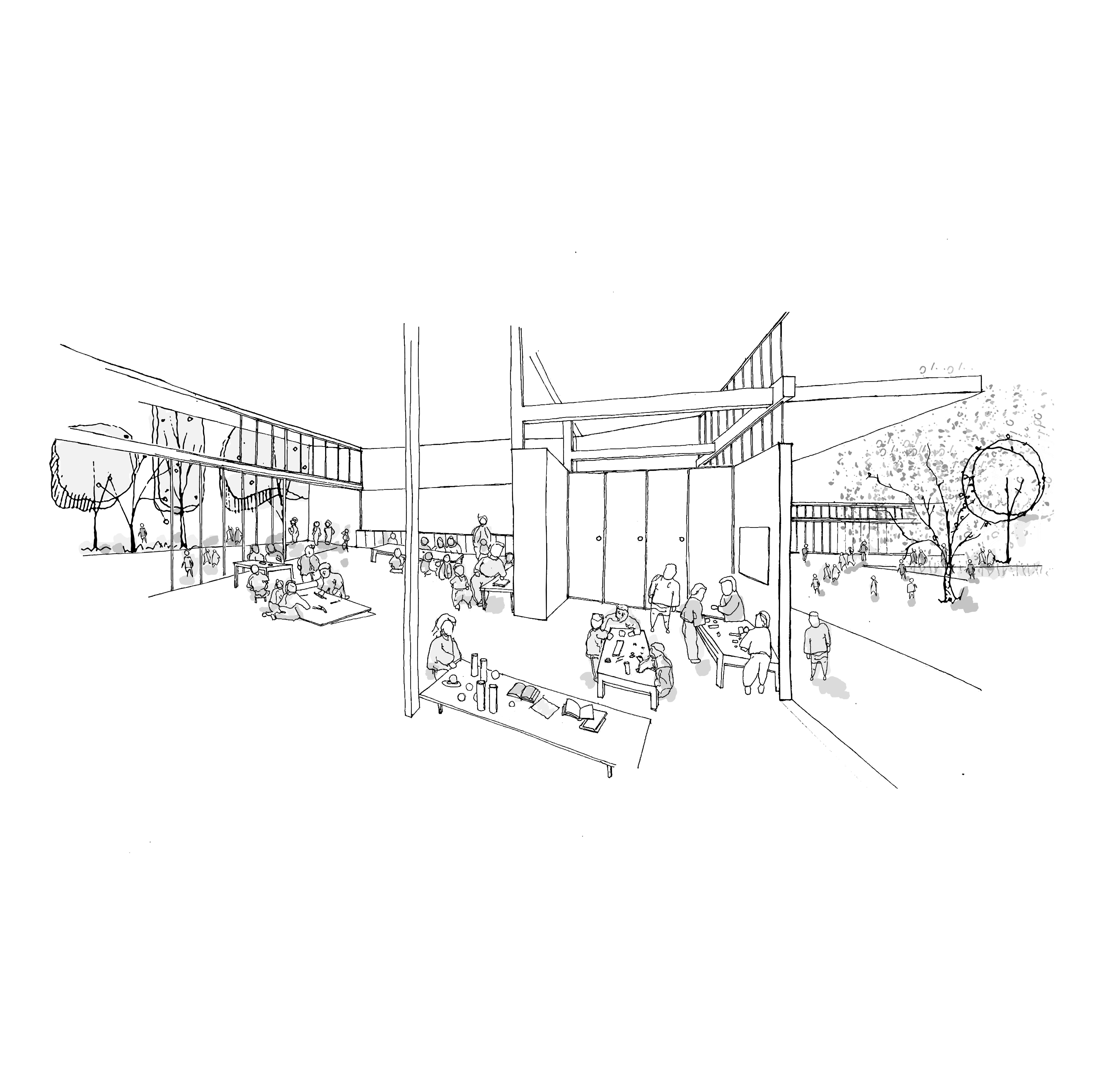 Cinco puntos de la Nueva Arquitectura Escolar